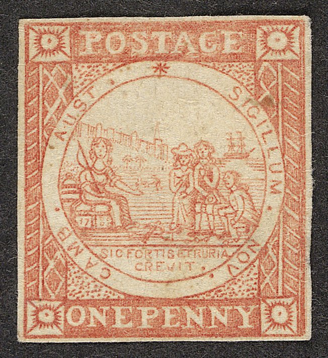 New South Wales: 1850 (1st January) 1d red, unused.